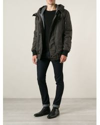 Dolce & Gabbana Hooded Coat - Gray
