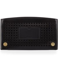 Reed Krakoff Lined Atlantique Perforated Leather Zip Pouch black - Lyst