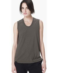 James Perse Spaced Jersey Tank - Lyst