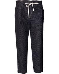 3.1 Phillip Lim Silk-Cotton Polka Dot Drawstring Pants - Lyst