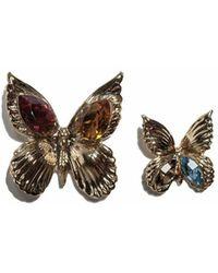 Rodarte Gold Butterfly Earrings - Lyst