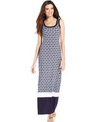 Karen Kane Printed Maxi Dress - Lyst