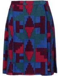Yves Saint Laurent Rive Gauche Knee Length Skirt blue - Lyst