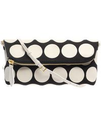 Burberry Prorsum - Polkadot Leather and Canvas Clutch - Lyst