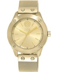 Vince Camuto Ladies Goldtone Stainless Steel Watch With Mesh Strap - Metallic