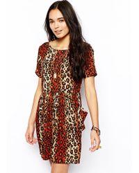 Asos Dress in Animal Print - Lyst