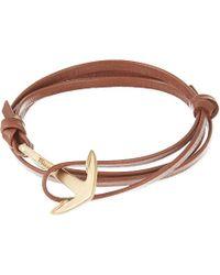 Miansai Matte Anchor Leather Bracelet - For Men - Lyst