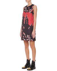 Marni Macro-floral-print Satin Shift Dress - Lyst