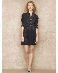 Blue Label Silk Crepe Shirtdress - Lyst