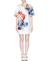 Mo&co. Edition 10 Digital Floral Print Crepe T-Shirt Dress - Lyst