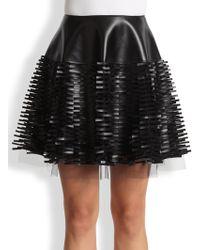 Sachin & Babi Suri Faux Leather Paillette Tulle Skirt - Lyst