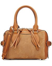 Burberry Prorsum - Leather And Suede Tote - Multicolour - Lyst
