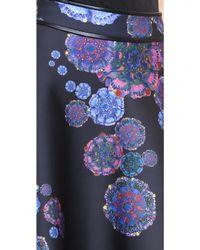 Cynthia Rowley | Bonded Short Skirt - Moon Flower | Lyst