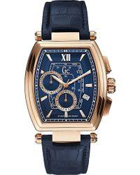 Gc - Y01004g7 Retroclass Crocodile-effect Leather Watch - Lyst