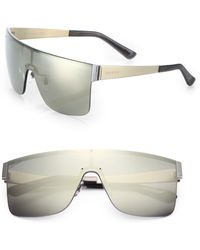 Gucci Rimless Shield 99Mm Square Sunglasses gray - Lyst