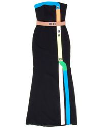 Peter Pilotto | Track Gown In Neon Black | Lyst