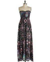 Bizz Inc Dba En Creme I'M With The Bandana Dress floral - Lyst