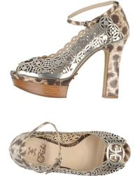 Fabi Pumps with Open Toe - Lyst
