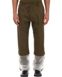 Y-3 Translucent Cuff Sweatpants green - Lyst