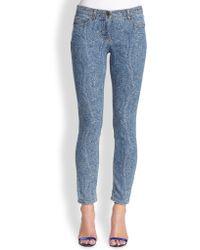 Etro Paisley-Print Skinny Jeans - Lyst