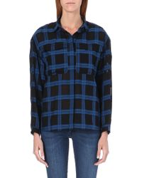Burberry Checked Cotton Shirt - Lyst