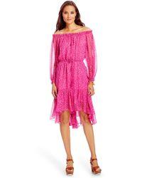Diane von Furstenberg Dvf Camila Chiffon Dress pink - Lyst