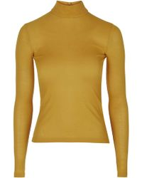 Topshop | Jersey Roll Neck Top By Boutique | Lyst