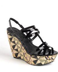 Vera Wang Lavender - Tavie Patent Leather Wedge Platform Court Shoes - Lyst