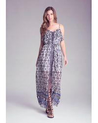 Bebe Print Georgette Maxi Dress - Lyst