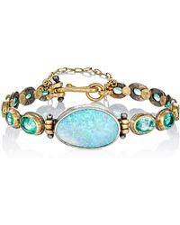 Judy Geib - Women's Opal & Emerald Bracelet - Lyst