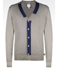 Armani Cotton Cardigan - Lyst
