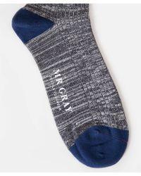 Mr Gray - Color-block Sock In Orange - Lyst