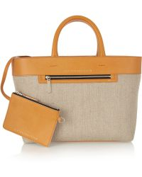 Victoria Beckham Quincy Inside Out Canvas and Leather Tote - Lyst