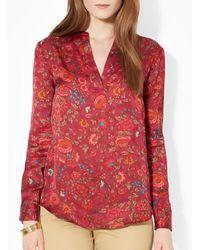 Ralph Lauren Lauren Floral Print Shirt - Lyst