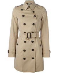 Burberry Belted Trench Coat - Lyst