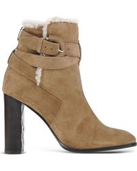Burberry   Suede Ankle Boots   Lyst
