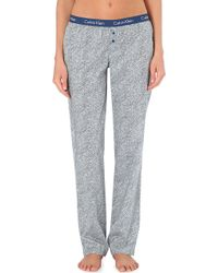 Calvin Klein Cotton Pyjama Trousers - Lyst