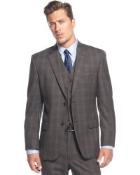 Michael Kors Michael Charcoal Windowpane Suit - Lyst