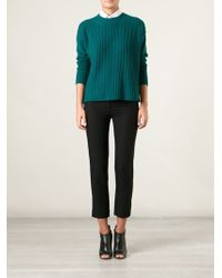 Forte Forte Ribbed Crew Neck Sweater - Lyst