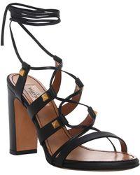 Valentino Studded Sandal In Black Studded Sandal In Black - Lyst