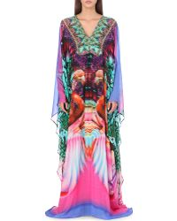 Camilla Digital-Print Silk Maxi Kaftan - For Women multicolor - Lyst
