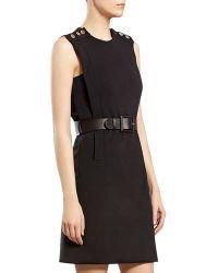 Gucci Black Wool Jersey Dress - Lyst