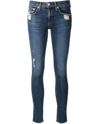 Rag & Bone Distressed Skinny Jeans - Lyst