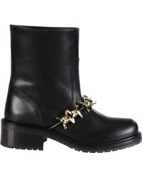 DSquared² | Boots Dsquared Black Leather Barbed Wire Gold | Lyst