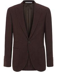 Brunello Cucinelli Open Weave Linen Blend Jacket - Lyst