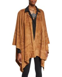 Pink Pony - Suede Equestrian Cape - Lyst