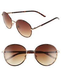 Fantaseyes | 55mm Round Sunglasses | Lyst