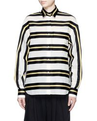 Ms Min | Glitter Lurex Stripe Shirt | Lyst