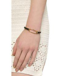 Marc By Marc Jacobs Leather Hinge Cuff Bracelet - Black - Lyst