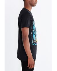 Design By Humans Shark Forest Tee - Black